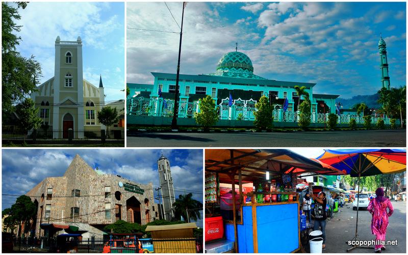 Gereja dan Mesjid serta Pedagang kaki lima di Kota Padang