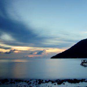 Sunset Dengan pemandangan Gunung Maitara Tidore