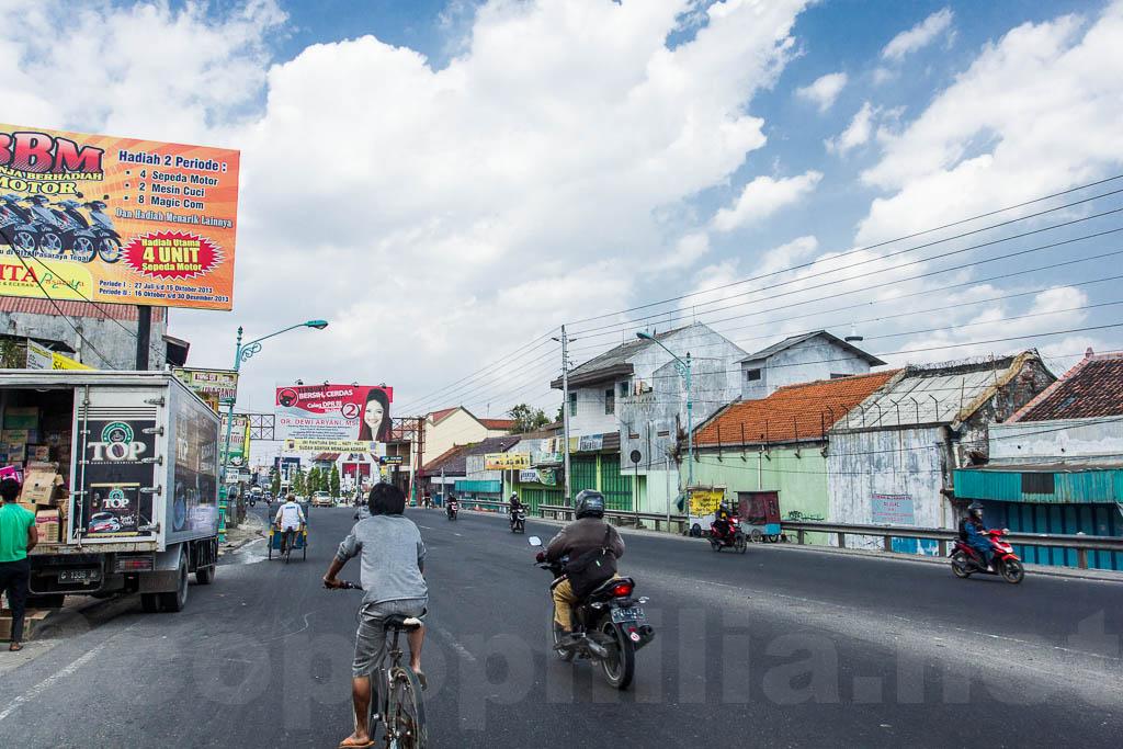Jalan Pantura di kota Brebes