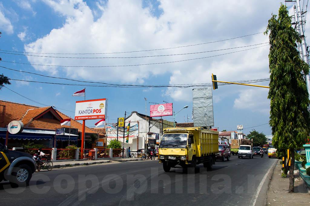Jalan Pantura depan Alun alun kota Brebes