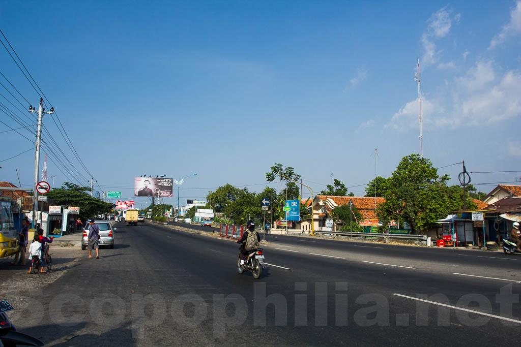 Jalanan Mulus di pantura Kabupaten Tegal